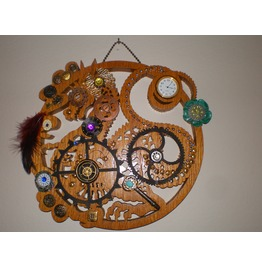 Steampunk Dragon Wall Clock