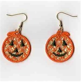 Handmade Lace Jack O Lantern Earrings For Pierced Ears Pumpkin Earrings