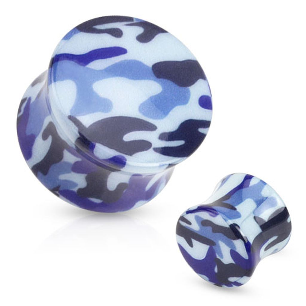 blue_camouflage_printed_acrylic_saddle_fit_plug_pair_2_ga_ear_gauge_plugs_and_tunnels_2.jpg