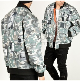 Multiple Patchwork Accent Camouflage Air Force Jacket 145