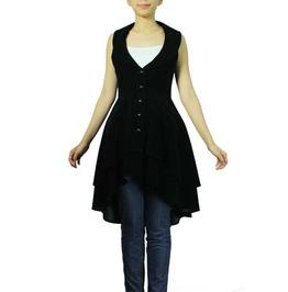 Marisa Long Velvet Vest
