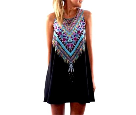 awesome_black_native_american_design_mini_dress_long_top_one_size_dresses_3.jpg