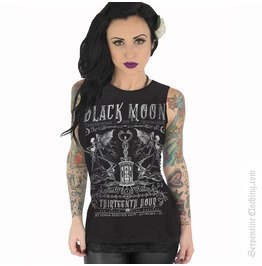 Black Moon Women's Muscle Tee