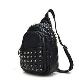 Rivet Punk Cross Body Messenger Bag