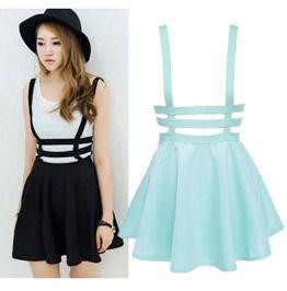 Suspender skirt falda tirantes wh065 skirts