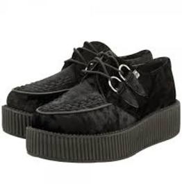 Black Crushed Velvet Viva Mondo Creeper