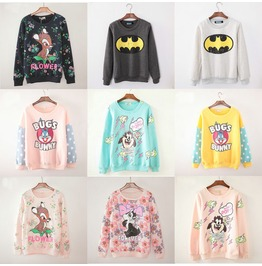 Cartoon Sweatshirts Sudaderas Wh016