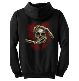 "Tat Daddy Adult ""Heart, Hand, & Skull"" Hoodie"