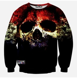 3 D Skull Print Women/Men Sweatshirts