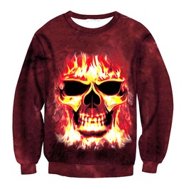 3 D Skull Print Women/Men Sweatshirts 02
