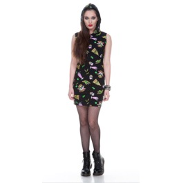 Jawbreaker Twisted Fast Food Bodycon Dress