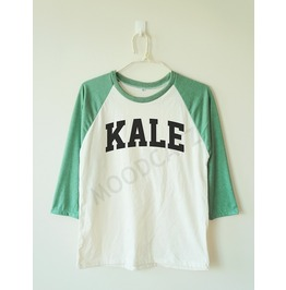 Kale Shirt Funny Shirt Text Shirt Baseball Shirt Long Women Tee Men Shirt