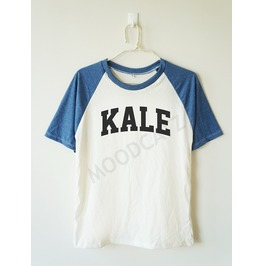 Kale Shirt Funny Shirt Text Shirt Baseball Tee Short Women Shirt Men Shirt