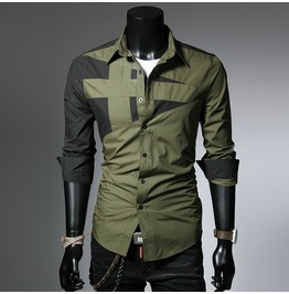 Color Matching Men Shirt