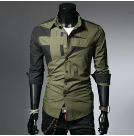 Color Matching Men Shirt