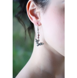 Handmade Bat's In Flight Earrings