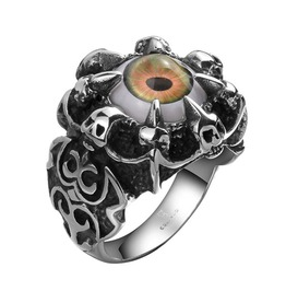 Men's Stainless Steel Punk Evil Eye Ring