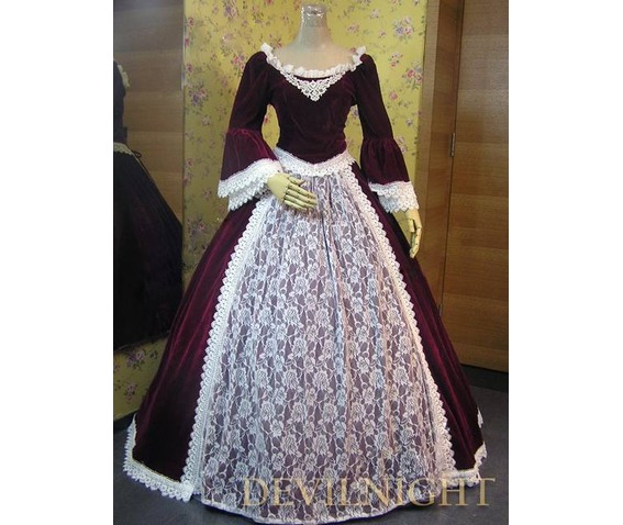 wine_red_velvet_lace_victorian_ball_gowns_dresses_2.jpg