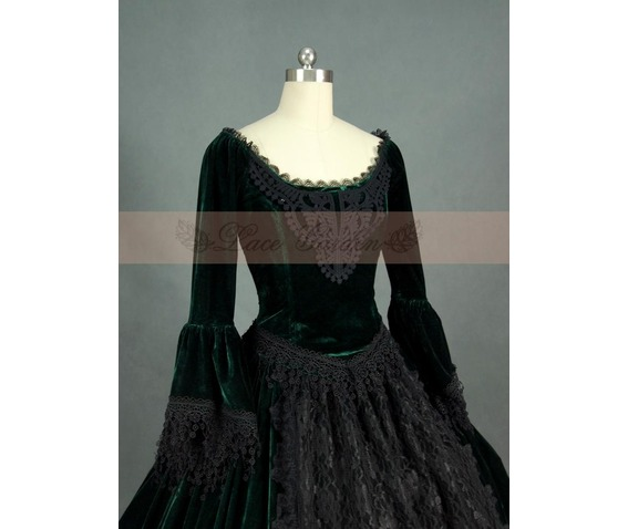 green_and_black_velvet_lace_victorian_ball_gowns_dresses_5.jpg