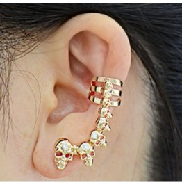 Hip Hop Skull Ear Cuff