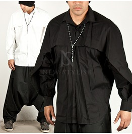 Wrap Cover Layered Noble Ray Fit Shirts 104