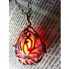 Fairy punk jewelry necklace drop locket with red glowing orb pendants 6