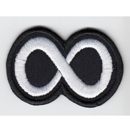 Symbol Of Eternity Embroidered Patch, 1,6 X 2,4 Inch