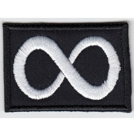 Symbol Of Eternity Variation 2 Embroidered Patch, 1,6 X 2,4 Inch