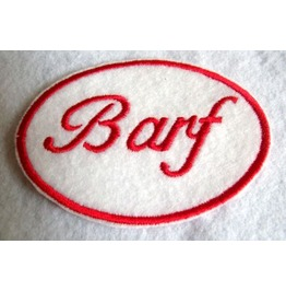 Embroidered Barf Name Tag Patch Iron/Sew On Great For Halloween Costume