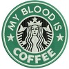 Embroidered faux starbucks my blood is coffee patch iron on sew on  patches 2