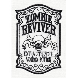 Embroidered Zombie Reviver Iron/Sew On Patch Badge Voodo Potion