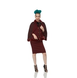 Jawbreaker Captain's Mistress Burgundy Steampunk Cape