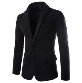 Men's 5 Color Cotton Blended Solid Jacket