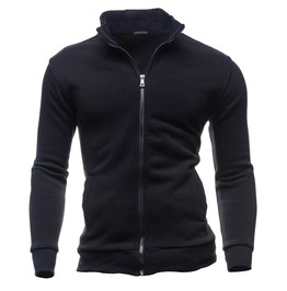 Men's 4 Color Zipper Up Long Sleeve Sweatshirt