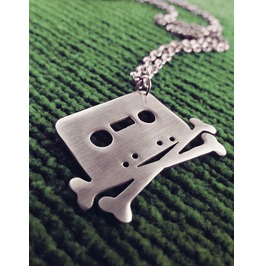 Tape And Crossbones Necklace The Pirate Bay Cassette