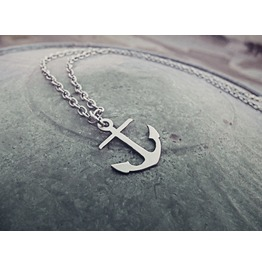 Anchor Pendant Necklace Sailor Pin Up Traditional Tattoo