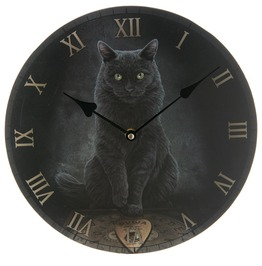 Egg N Chips London Black Cat And Ouija Board Wall Clock