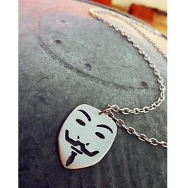 Guy Fawkes Mask V For Vendetta Pendant Necklace