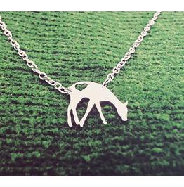 Heart Deer Necklace