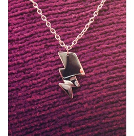 Lightning Bolt Silhouette Necklace