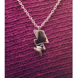 Lightning Bolt Silhouette Necklace