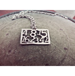 Lost Numbers Pendant Necklace