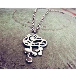 Ornamental Cloud Pendant Necklace