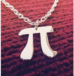 Pi Pendant Necklace Positive 3,14 Pi Symbol