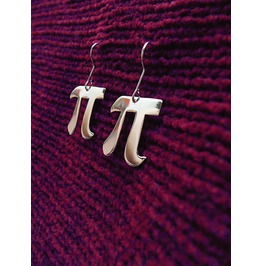 Pi Symbol Letter Earrings Math Silhouette