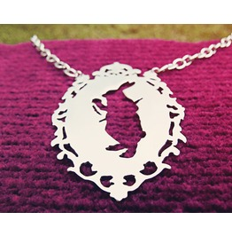 Down The Rabbit Hole Necklace Ornamental Victorian Frame