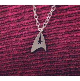 Star Trek Badge Insignia Silhouette Necklace