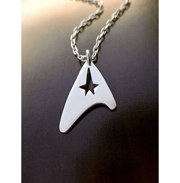 Star Trek Pendant Necklace Sterling Silver