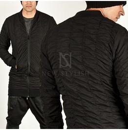 All Wrinkled Accnet Banded Hem Long Blouson Jacket 149