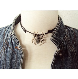 Large Spider Choker Necklace